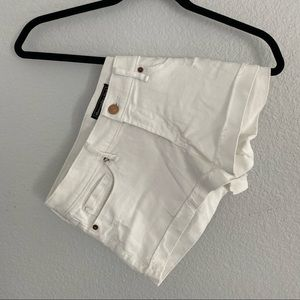 Abercrombie White Jean Cutoff Shorts